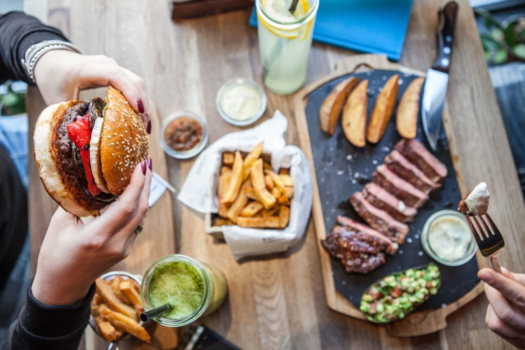 goat burger oraz stek